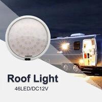 White 12V 46LED Car Vehicle Interior Roof Ceiling Dome Light Round Lamp