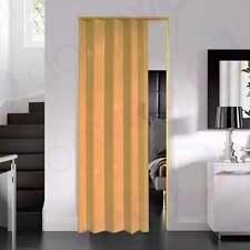 Dynasty Oak PVC Concertina Accordion Folding Door Magnetic Catch 600 - 820mm