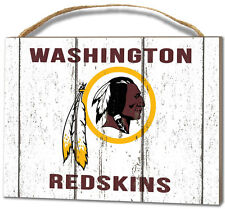 Washington Redskins Small Plaque - Weathered Logo [NEW] NFL Sign Wall Wood