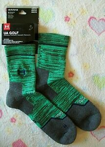 "UNDER ARMOUR ""UA"" GOLF ""ARMOURDRY TECHNOLOGY"" MID SOCKS -Green MEN'S -Large 9-12"
