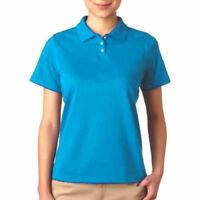Outer Banks Womens Blue Polo Golf Shirt, Cool DRI Performance Short Sleeve - 2XL