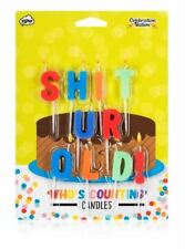 Who's Counting Candles Sh*t Ur Old Rude Birthday Cake Decoration Toppers