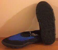 Brand New OT Revolution Boy's Youth Slip-On Black & Blue Water Shoes size L 2/3