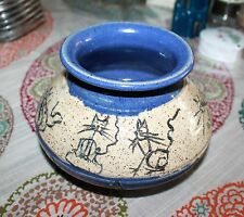 CLAY POT. KITTIES ALL AROUND. HANDMADE. PERFECT!
