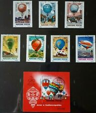 1983 Hungary Full Set Of 7 Stamps & Souvenir Sheet - Hot Air Balloons - Pc/Nh