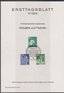 Ersttagsblatt 11/1975 Industrie und Technik
