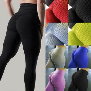 Womens Scrunch Butt Lift Yoga Pants Anti-Cellulite Gym Fitness Jogging Leggings