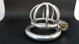 Ultra Small  & Supa small  Stainless Steel Male Chastity Device Cage Belt