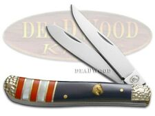 Silverhorse Mini Trapper Knife American Flag Series Exotic Stone Shs-508Rwb