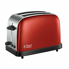 Russell Hobbs Colours Plus  2-Slice Toaster in Flame Red Brand New