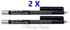 NYX Shimmer Liner 934 Crystal Glitter Eye / Eyebrow Pencil (Pack of 2) NEW!