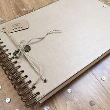 Handmade Personalised Photo Album/ Scrapbook/ Memory Book/ Guest Book A4 Luxury