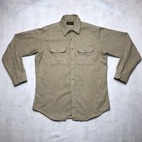 VINTAGE Eddie Bauer Mens Thick Button Long Sleeve Shirt XL Brown Pockets