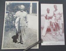Lot of 2 Fishing Photos, Will Weidner, Lake Bomoseen, Vt., 1940s