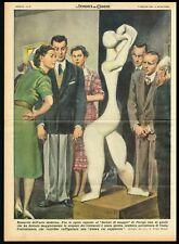 1953 Oddities of Modern Art Exhibit in Paris, Coulentianos Abstract Sculpture
