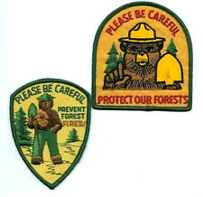VINTAGE FOREST SERVICES SMOKY BEAR PREVENT FIRE 2-PATCH