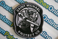 Saint St. Michael Angel Protect Us Tactical Hook fastener backing Patch