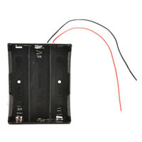 Hard Plastic Battery Storage Case Box Holder For 3x18650 3.7V With Wire Leads  Z