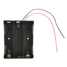 Best Battery Storage Case Black Box Holder For 3x18650 3.7V With Wire Leads MH