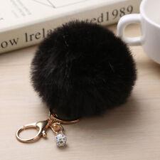 Furry Pompom Ball Key Chain Ring Keyrings Keychain Women Bag Car Pendant Decor