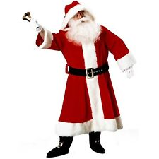 Old Time Mens Adult Christmas Holiday Costume Santa Suit-Std