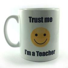 NEW TRUST ME I'M A TEACHER SMILEY FACE EMOJI MUG CUP GIFT PRESENT SECRET SANTA