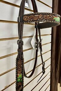 Circle Y Headstall Browband Cactus Country