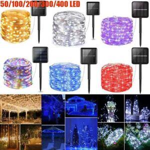300/400 LED Solar Fairy String Light Copper Wire Outdoor Waterproof Garden Decor