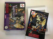 Castlevania Vampires Kiss Super Nintendo SNES REPRO BOX +  Manual