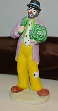 Signed Emmet Kelly Junior Flambro Sad Clown with Head of Cabbage