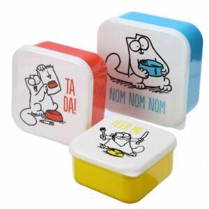 Set of 3 Lunch Box Snack Pots S/M/L - Simon's Cat