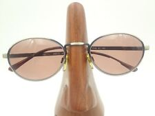 Vintage Anthony Martin Randy Matte Silver Metallic Oval Sunglasses Frames