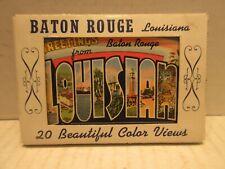 20 Beautiful Color Views of Baton Rouge Louisana 1940's Linens Unused