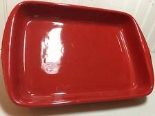 Terra-cotta Casserole RED. Made in Italy hand painted