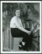 MYRNA LOY CASUALLY DRESSED in ORIGINAL Vintage COLUMBIA PICTURES PORTRAIT Photo