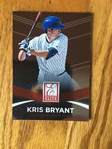 2015 Donruss Elite Insert Kris Bryant RC Cubs