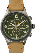 TW4B04400 Timex Men's Expedition Brown Leather Analog Quartz Dress Watch