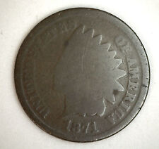 1871 Indian Head US One Cent Coin Good