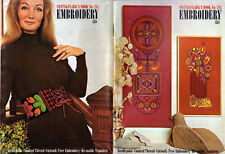 EMBROIDERY Patterns NEEDLEPOINT Counted Thread CUTWORK Vintage TRANSFERS