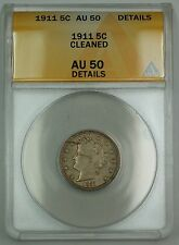 1911 Liberty V Nickel Coin 5c ANACS AU-50 Details Cleaned