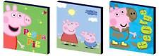 PEPPA AND GEORGE PIG- CANVAS ART BLOCKS/ WALL ART PLAQUES/PICTURES