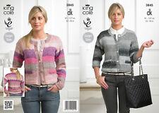 King Cole Knitting Pattern Double Knit Cardigan Shine DK - 3845