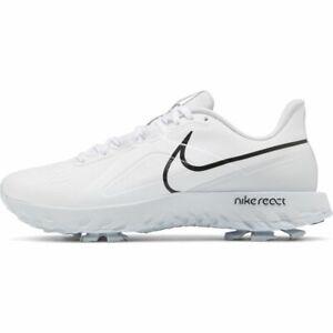 NEW Nike React Infinity Pro Golf Shoes - White/Black/Platinum - Drummond Golf
