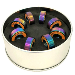 ABEC-9 Skateboard 608 2RS Bearings Pack of 8