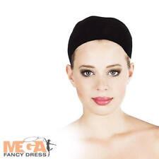 Black Hairnet Wig Cap Adult Fancy Dress Hair Cover Ladies Mens Costume Accessory