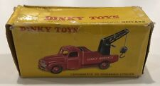 DINKY TOYS ancienne Boîte vide Camionnette De Dépannage ( référence 582 )