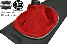 RED REAL SUEDE MANUAL SHIFT BOOT FITS ACURA RSX TYPE S TYPE R 02-06