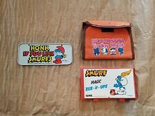 1983 Smurf Magic Rub-It-Ups 1982 Imperial Wallet Puffy Sticker License PlateLot
