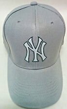 Read Listing !New York Yankees Heat Applied applique on Grey cap hat! Adjustable