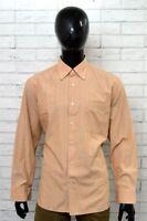 Camicia NINO CRISTIANI Uomo Man Taglia 44 Collo 17, Cotone Shirt Chemise A Righe
